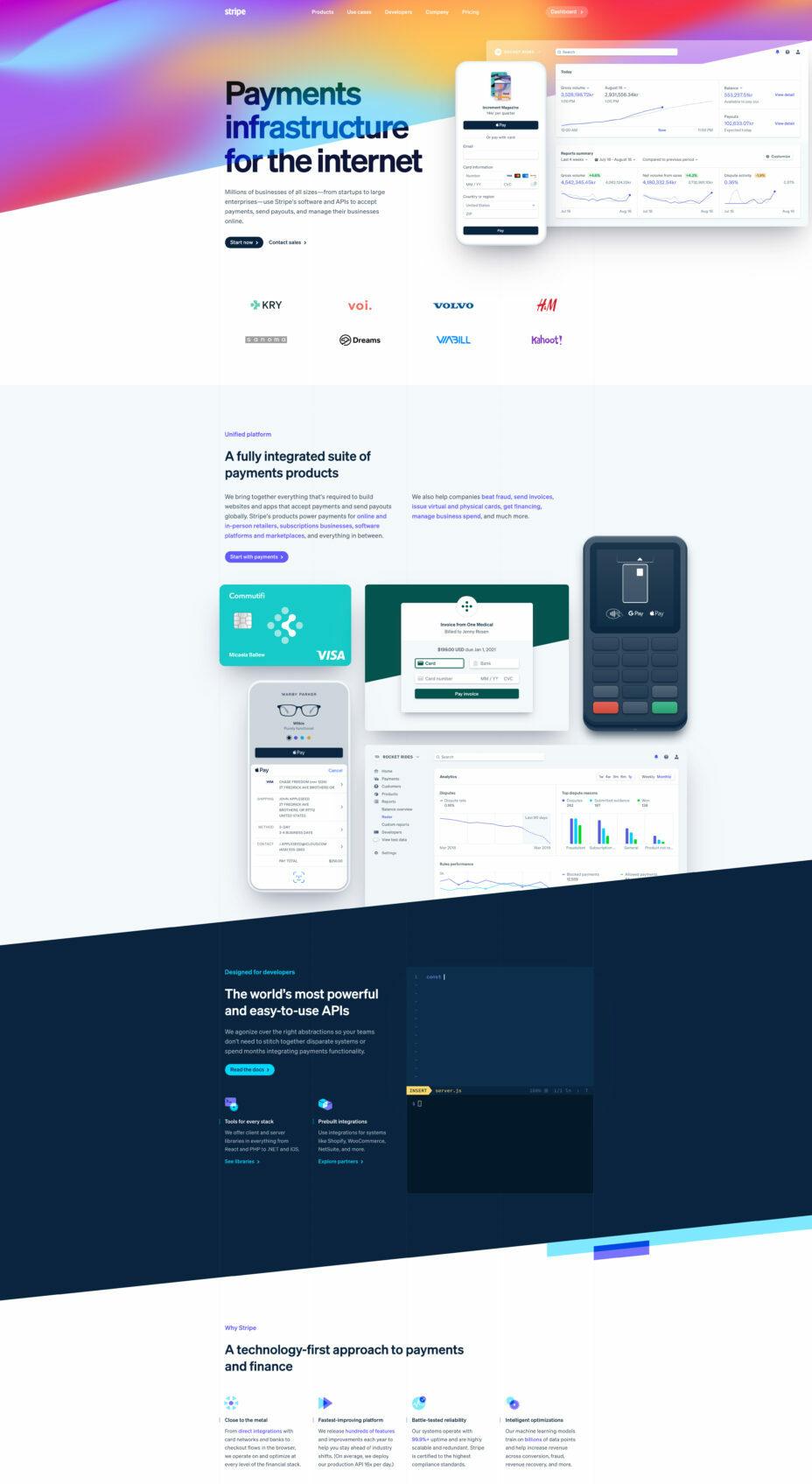stripe full website