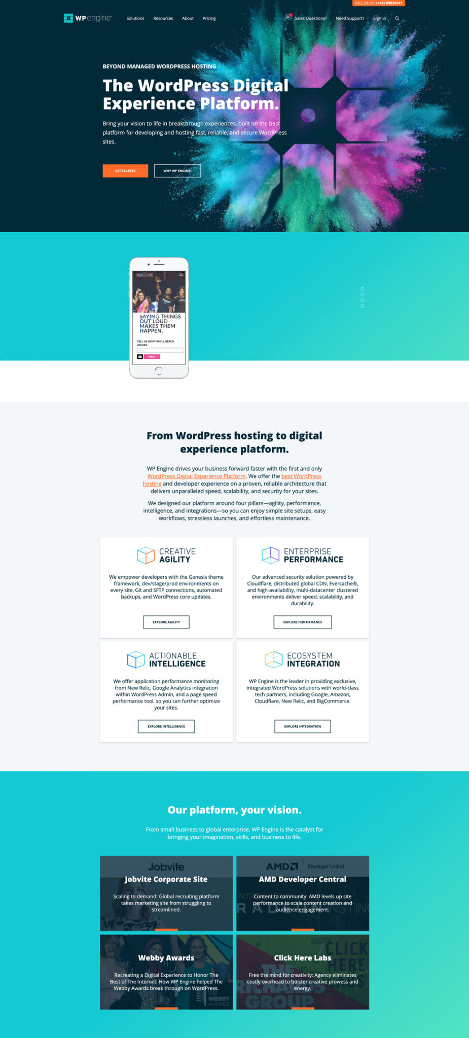 wp engine website