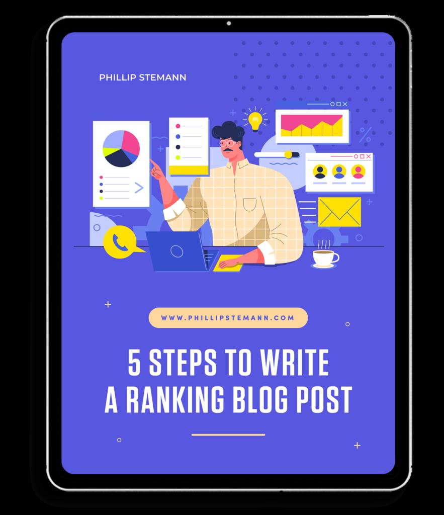E-book - 5 steps to write a ranking blog post